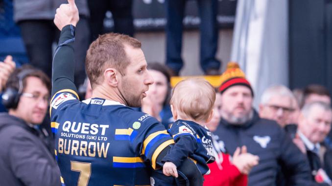 Motor neurone battler Rob Burrow makes emotional rugby league return